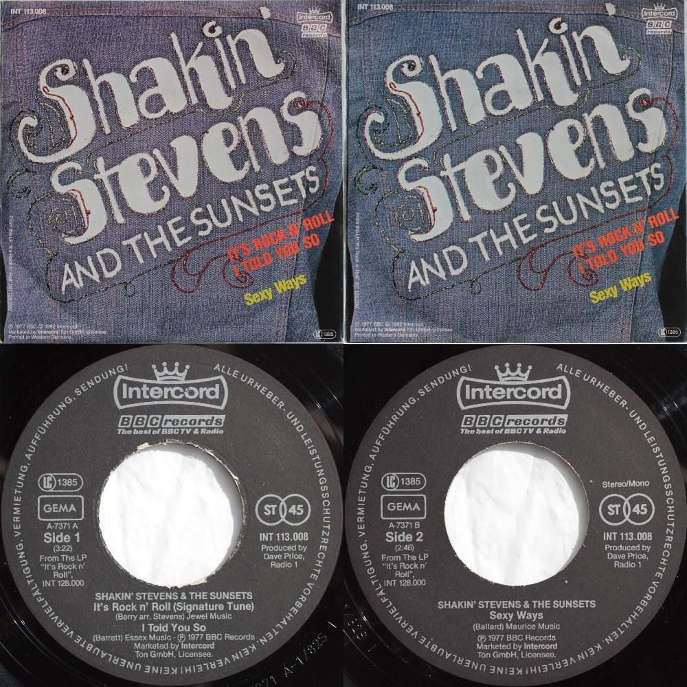 Shakin Stevens Amp The Sunsets Singles